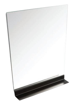 Picture of Modern  MIRROR with BLACK shelf  600 mm x 770 mm H