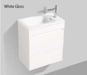 Picture of Enzo narrow WHITE bathroom cabinet SET 540 x 325 mm, DELIVERED to Cape Town