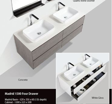 Picture for category Bathroom Cabinets 1200-1500mm L DELIVERED to Cape Town