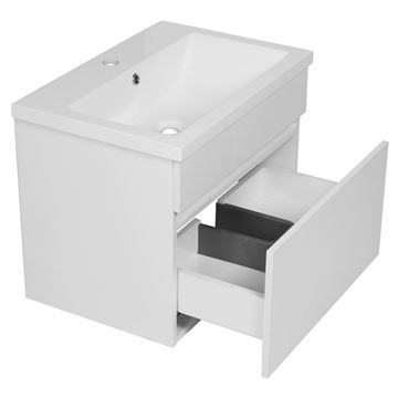 Picture of Bijiou White Bathroom Cabinet 600 mm L with 1 drawer