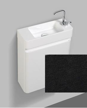 Picture of Milan Extra slim BLACK & WHITE bathroom cabinet  SET 450 x 182 x 550 H