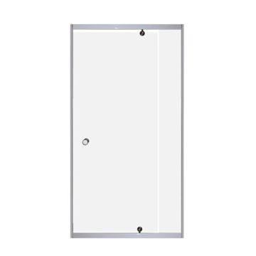 Picture of SALE PIVOT shower door only, 5 mm tempered glass, adjustable white frame, EX CAPE TOWN