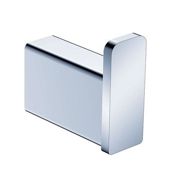Picture of SALE Bijiou Rhone Robe Hook, Solid Brass, chrome plated, square style