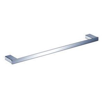 Picture of SALE Bijiou Rhone Single Towel Rail 600 mm L, chrome plated SOLID Brass, square style, ex JHB