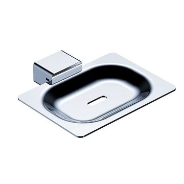 Picture of SALE Bijiou Rhone Soap Dish, chrome plated Solid Brass & Stainless steel, square style