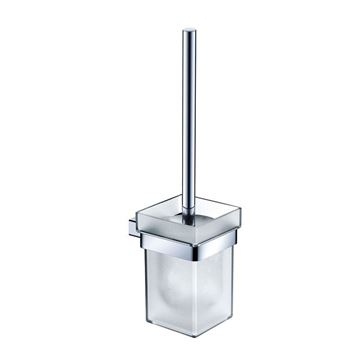 Picture of SALE Bijiou Rhone Toilet Brush & Holder, chrome plated Brass, square style