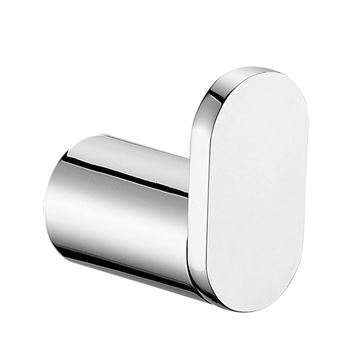 Picture of SALE  Bijiou Monaco Robe Hook, Solid Brass, chrome plated, Round style