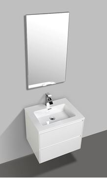 Picture of Enzo White bathroom cabinet SET 600 mm L with 2 soft closing drawers DELIVERED to CAPE TOWN